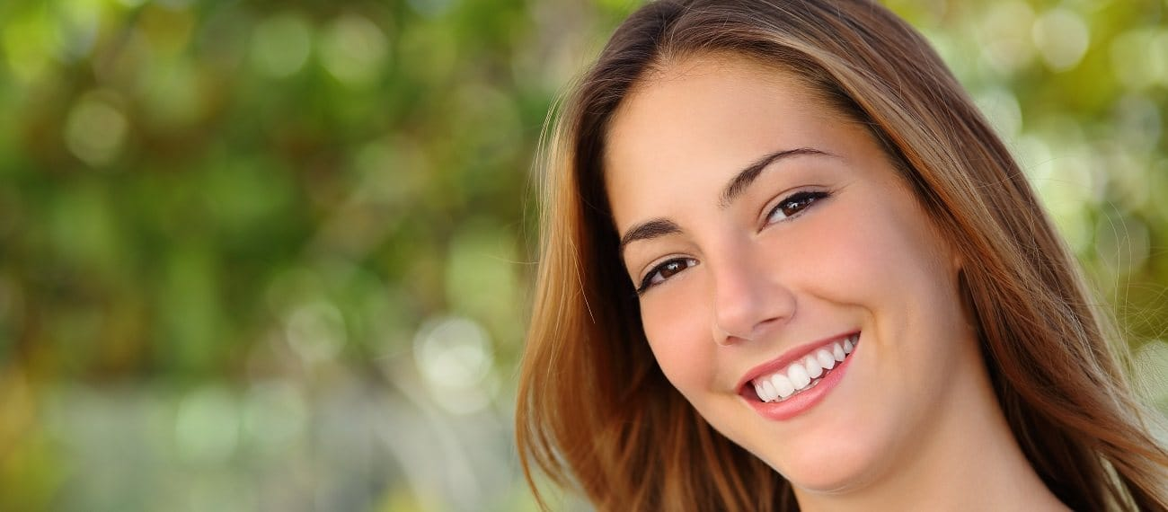 woman smiling beautifully